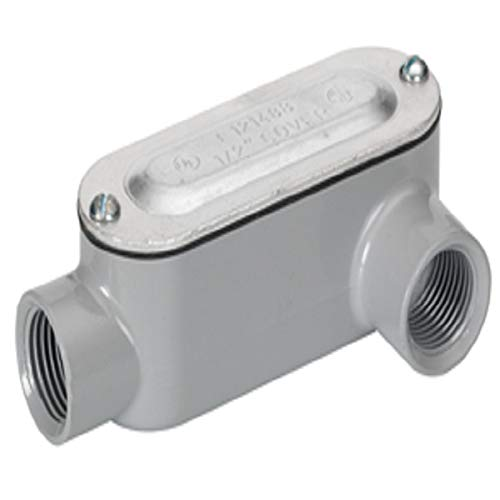 Bridgeport Ll-47Cg Series 5 Type Ll Conduit Body with Cover and Gasket. 2-1/2 Inch, Aluminum, Fnpt
