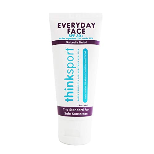 Thinksun Everyday Face Sunscreen, Naturally Tinted, Currant, 2 Ounce (Packaging May Vary) (Best Chemical Sunscreen For Face)