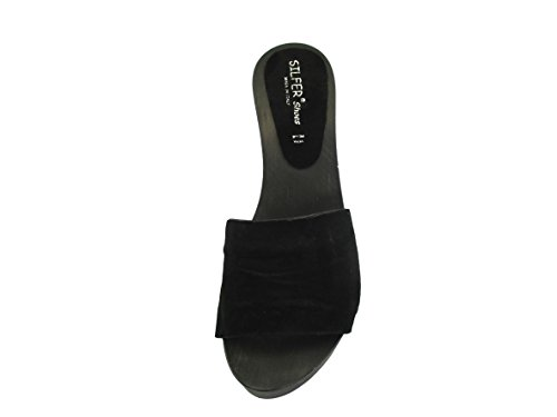 Mules Noir Shoes pour Femme Silfer w4qX7gS