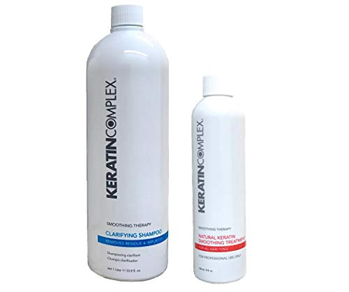 Keratin Complex Smoothing Therapy Treatment 8 oz + Clarifying Shampoo 33.8 oz - Keratin Smoothing Treatment