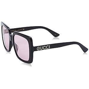 Gucci Women's GG0418S-002 Sunglasses, Black (Negro), 54.0