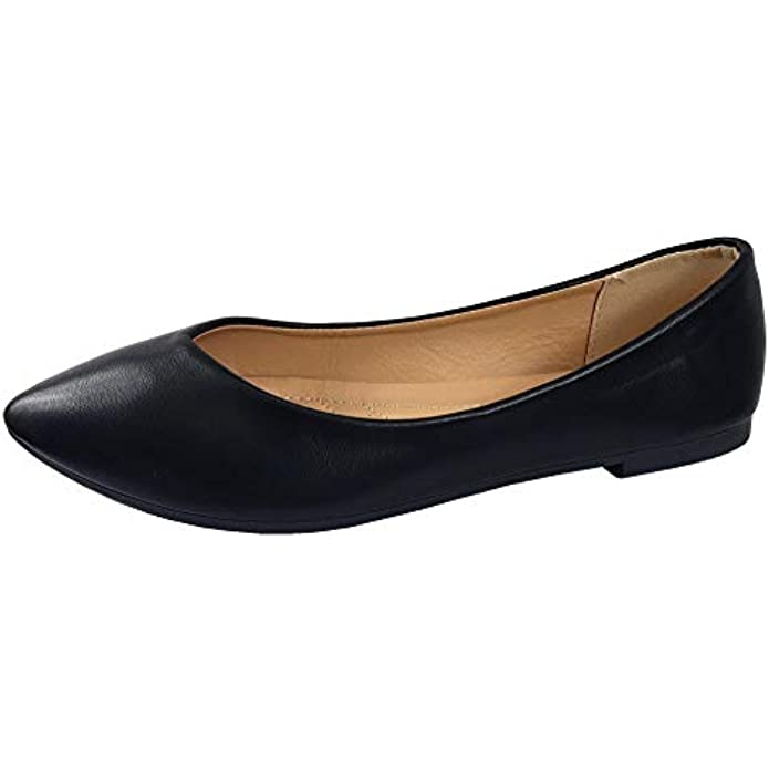 Ultra Comfort Classic Ballet Flats Flexible Closed Toe Pointed Slip On