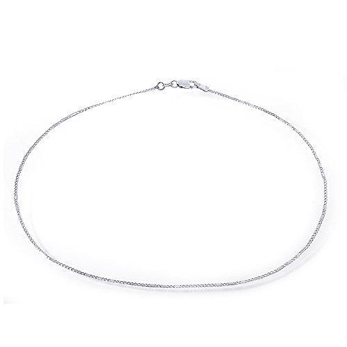 14K White Gold Long and Short Chain Ankle Bracelet by Avital & Co.