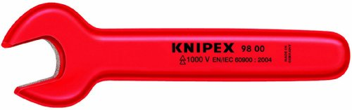 KNIPEX 98 00 3/4-Inch 1,000V Insulated 3/4 Inch Open End Wrench