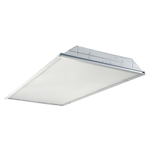 (Metalux 24GRLED5040RT-120V 2 x 4 ft. White Integrated Drop Ceiling Light with 5000 Lumens, 4000K LED Troffer)