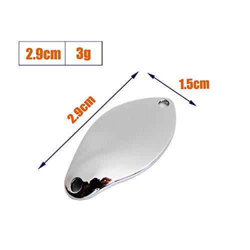 Tomic Cassiopeia 2g 3g Non Verniciato 50 Pezzi Micro Ottone Metallo Esche Oscillare Trote Pesca Spinner Ultraleggero Cucchiaino