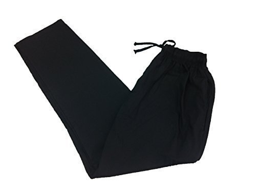 Black Drawstrings Chef Pants in Medium (Pack of 2) by SunRise