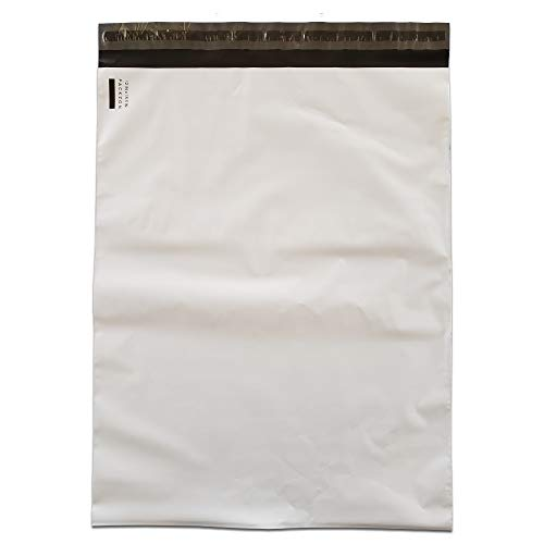 (PACKZON Poly Mailers Shipping Envelopes Self Sealing Bags White 2 mil (12