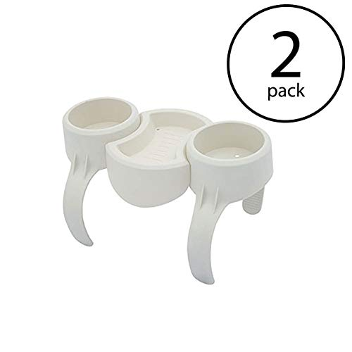 Bestway Plastic SaluSpa Drinks Holder/Snack Tray for Side Accessory (2 Pack) -  108002