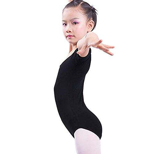 E Support™ Mädchen Body Kinder Kurzarm Ballettanzug