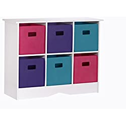 RiverRidge Cabinet with 6 Jewel Bins, White