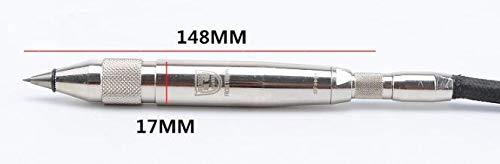 ELEOPTION Pneumatic Engraving Pen Tool Air Pencil Grinder 112L/min Engraver Penumatic Tip Pen