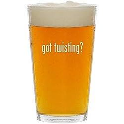 got twisting? - Glass 16oz Beer Pint