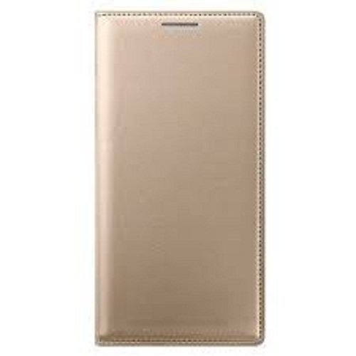 Mobizworld Imported leather type flip cover for Xiaomi redmi note 5 pro   Gold Mobile Accessories