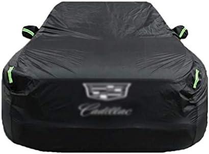 キャデラックCTS SRX XT4 XT5 XTS ECT EXT XLRドゥビルエスカレードATSL CT6 SLS防水通気性のUV全天候保護のフルカーカバーとの互換性のカーカバー (Color : Logo, Size : XTS)