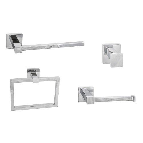 (SURE-LOC VR 26 (PH1) Bath Series Vlora Modern 4-piece Bathroom Accessory Set)