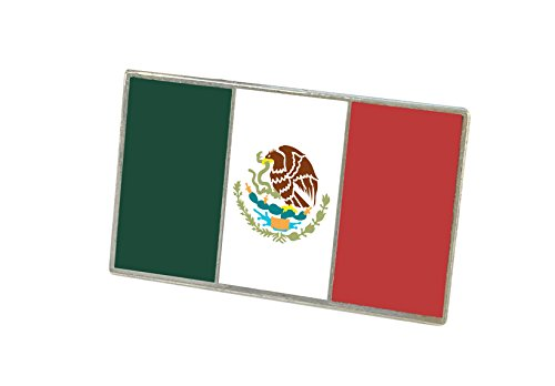 Forge Official Mexican Flag Enamel Lapel Pin (Bandera De Mexico) (1 Pin)