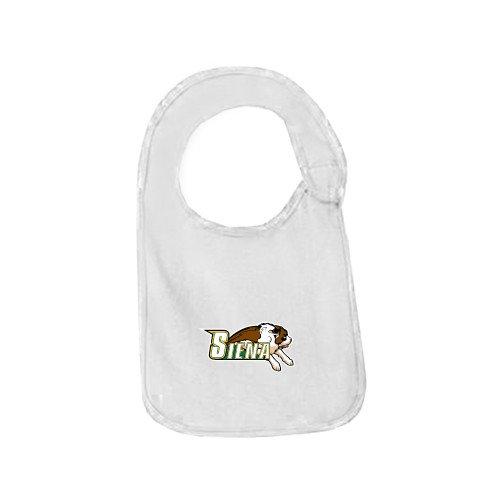CollegeFanGear Siena White Baby Bib 'Official Logo' by CollegeFanGear