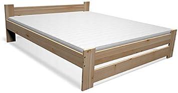 Best For You - Cama Doble de futón para Personas Mayores de Madera 100% Natural con colchón viscoelástico de 15 cm y somier de Muchos tamaños