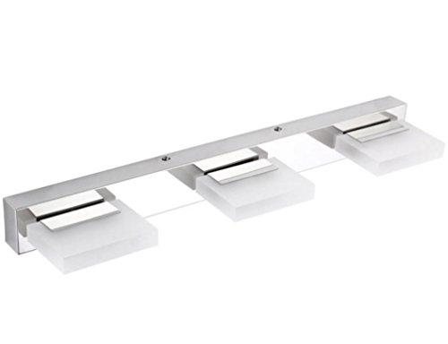 Lightess Modern LED Bathroom Light Fixtures Crystal Bath Vanity Mirror Sconces, 9W Cool White