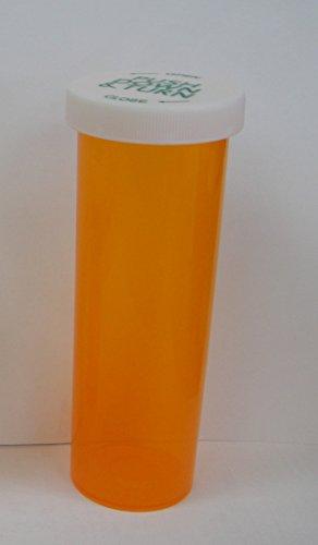 Large Pill Bottle - 60 Dram Prescription Pill Bottle / Vials; Large Size 3.75 Oz / 60dram with Child Resistant Caps, Pack of 6