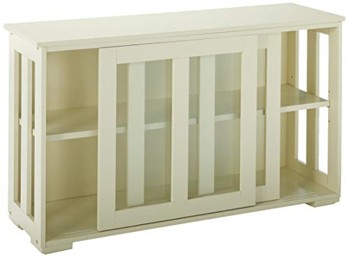 TMS Pacific Stackable Storage with Glass Door, Antique White by TMS (Image #3)