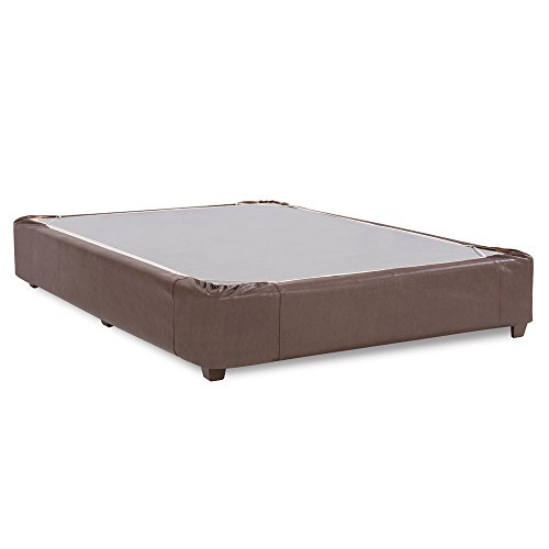 Pecan Queen Bed Size - Howard Elliott 241-192S Platform Bed Conversion Kit & Boxspring Cover, Full, Avanti Pecan