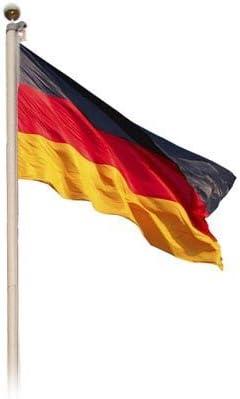 Alu Fahnenmast mit Deutschlandflagge 6,20 m