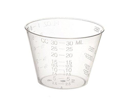 Non-Sterile Graduated Plastic Medicine Cups - 1oz - Pack of 200