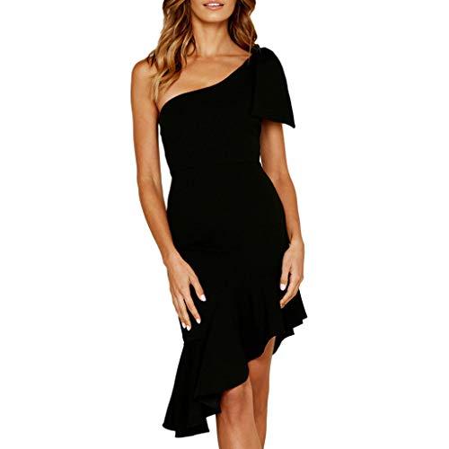 TOTOD Dress, Sexy Ruffles Sleeveless Off Shoulder Dress Women Fashion Sheath Mermaid Skirt Elegant Party Outfits