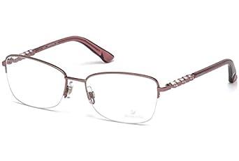 daniel swarovski eyeglasses felicia sw5140 sw5140 072 pink optical frame 54mm