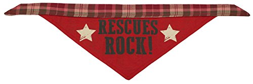 Price comparison product image MuttNation Fueled by Miranda Lambert Rescues Rock! Bandana for Dogs,  Small,  Red Black and Tan