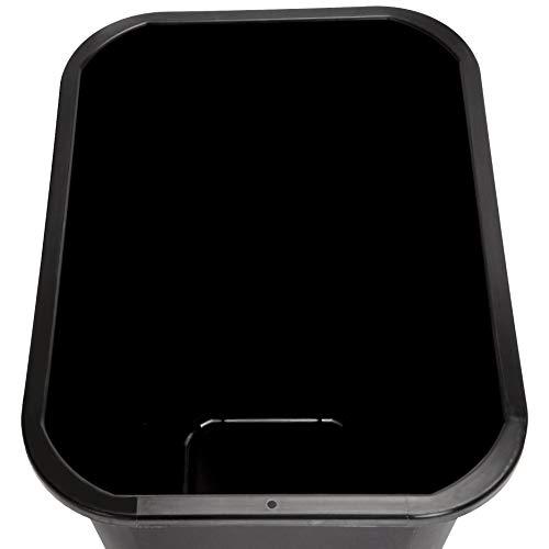 AmazonBasics 10 Gallon Commercial Waste Basket, Black, 12-Pack by AmazonBasics (Image #5)