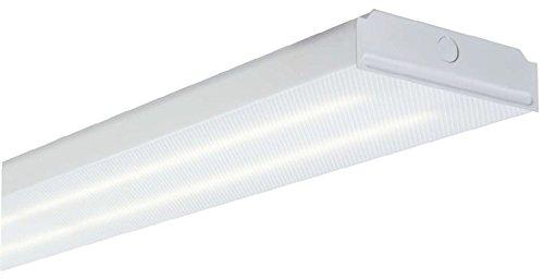 - All-Pro APW-GPW232 Wraparound Fixture, 2 Lamp, 4' General Purpose Wrap, Prismatic Lens, NEMA Premium T8 UNV Electronic Ballast