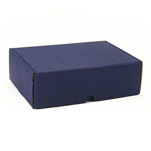 10 Stück VarioColors Naturpak Aufbewahrungsboxen A5 dunkel blau Geschenkverpackung Versandschachtel 230x170x75mm