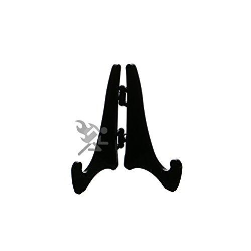 OnFireGuy (6) Mini Hinged Black Acrylic Easels, 2.125
