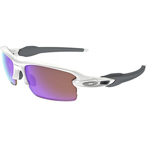 Oakley Men's Flak 2.0 (a) Non-Polarized Iridium Rectangular Sunglasses, Polished White, 61.01 - Lenses Oakley 2.0 Prizm Flak
