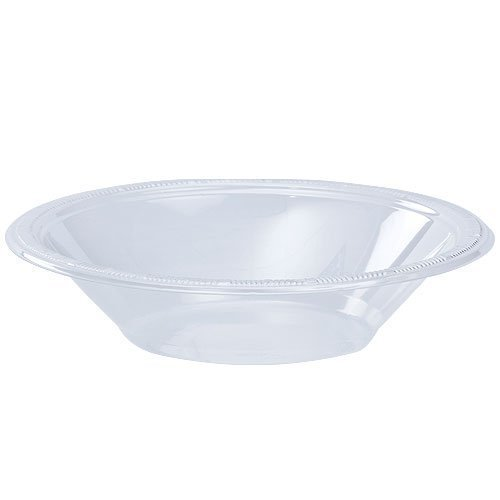 Hanna K. Signature Collection 100 Count Plastic Bowl, 12-Ounce, Clear