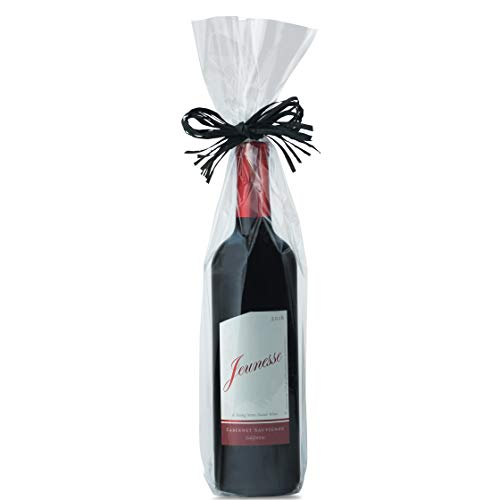 (Clear Cellophane Wine Bags 100 Gusset Cellophane Bags for Wine Bottles 5