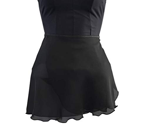 Body Wrappers Womens WRAP SKIRT 988 -BLACK P-S