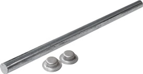 (SeaSense Zinc Plated Roller Shafts With Pal Nuts, 5/8