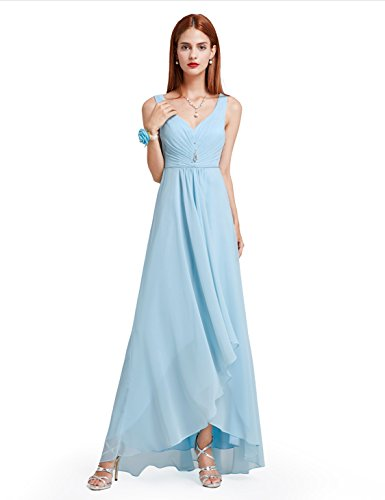 Ever-Pretty Womens V-Neck Rhinestones Evening Party Dress 6 US Sky Blue