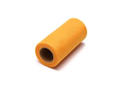 Wedding Tutu Bows - Glitter Tulle Roll Spool Tutu Skirt Fabric Wedding Party Gift Bow (Golden)