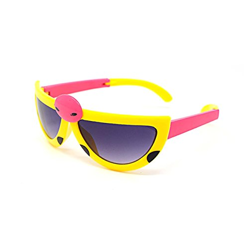Ultra 3 x Yellow Coloured Pairs Childrens Kids Boys Girls Stylish transforming cute ladybird Style - To Buy Where Bans Ray