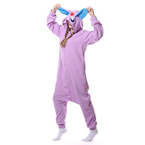 HLDUYIN Unisex Adult Onesie Cosplay Costume Nightwear 3D Animal All in One Jumpsuit Suitable Home Party Novelty Sleepsuit Sleepwear Adult Kids,S
