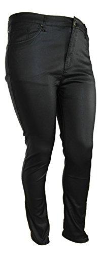 Stretch Jeans Lederoptik XXL von Einkaufszauber