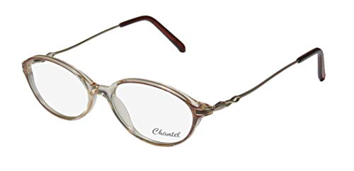 D&A Chantel Nina Womens/Ladies Designer Full-rim Spring Hinges Size Glasses In Style Eyeglasses/Spectacles (50-16-135, Crystal/Pattern / Silver) (D-frame Brille)
