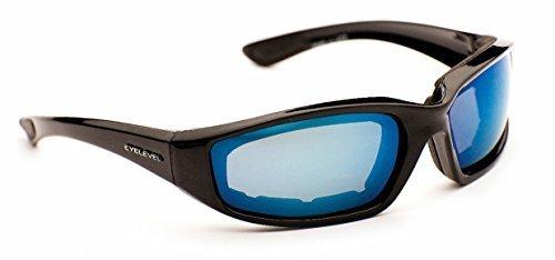 Eyelevel Men's Rider Sports Sunglasses Polycarbonate Blue Mirror Shatterproof Cat-3 UV400 Lenses One Size - Sunglasses Uk Eyelevel