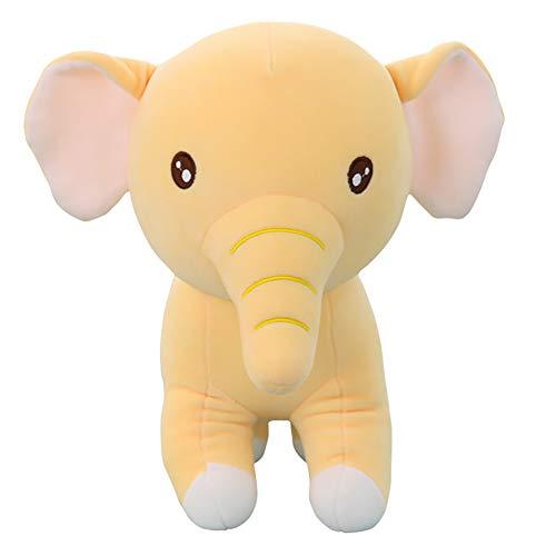 YiWu OuCen Rainbow Elephant, Plush Animal, Stuffed Toys for Animal Elephant (Yellow)