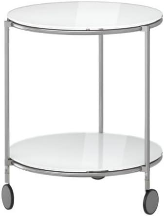 Ikea Strind Table D Appoint Blanc Nickele 50 Cm Amazon Fr Cuisine Maison